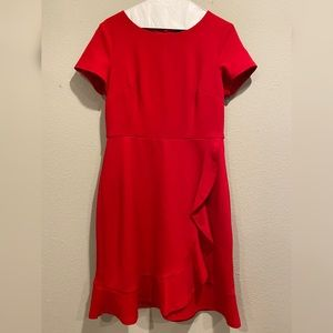 Liz Claiborne Red Short-Sleeve Dress